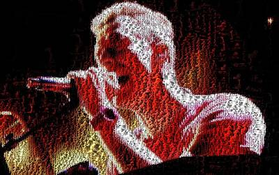 Coldplay Digital Art - Chris Martin - Montage by Chris Cousins
