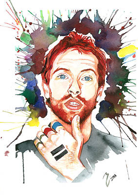 Coldplay Drawing - Coldplay by Zina Ghulmiyyah raad