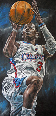 Los Angeles Clippers Painting - Chris Paul by David Courson