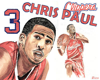 Chris Paul Art Print by Israel Torres