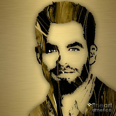 Star Trek Mixed Media - Chris Pine Collection by Marvin Blaine