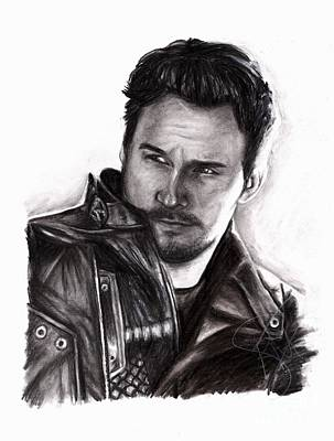 Drawing - Chris Pratt 2 by Rosalinda Markle