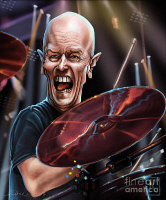 Caricature Drawing - Chris Slade by Andre Koekemoer