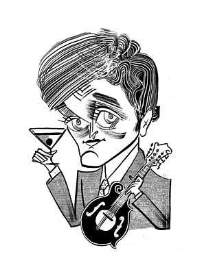 Punch Drawing - Chris Thile-punch Brothers by Tom Bachtell