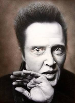 Airbrush Painting - Chris Walken by Grant Kosh