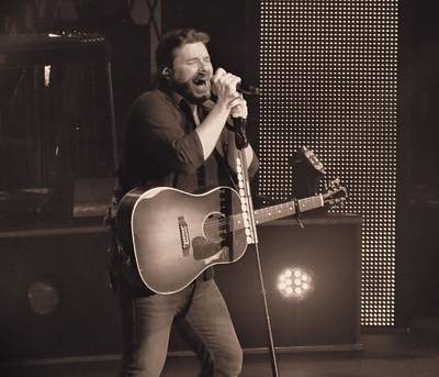 Chris Young On Stage Art Print by Dan Sproul