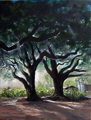 Painting - Chris's Oaks by Carol Hart