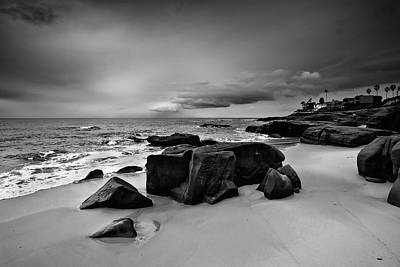 Chris's Rock 2013 Black And White Art Print by Peter Tellone