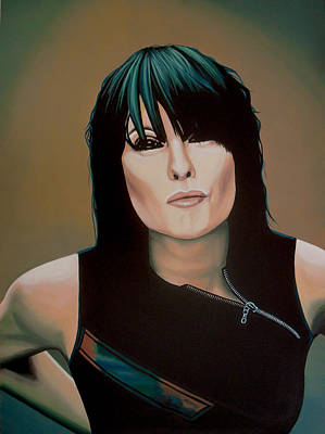Releasing Painting - Chrissie Hynde Painting by Paul Meijering