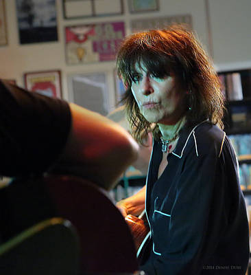 Photograph - Chrissy Hynde On Her Taylor Guitar By Denise Dube by Denise Dube