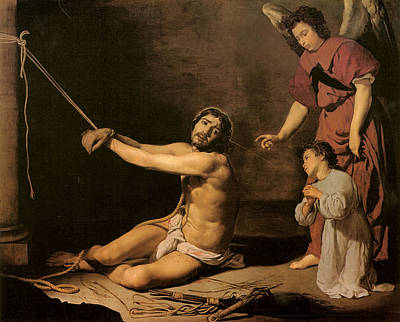 Flagellation Painting - Christ After The Flagellation Contemplated By The Christian Soul by Diego Velazquez