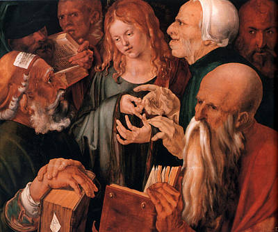 Christ Among The Doctors Art Print by Albrecht Durer