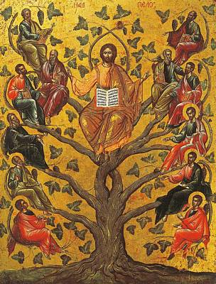 Oaks Painting - Christ And The Apostles by Unknown