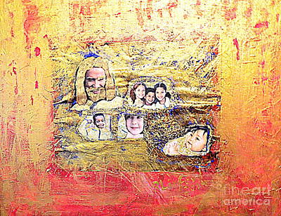 Claim Mixed Media - Christ And The Children At The U S Border by Richard W Linford