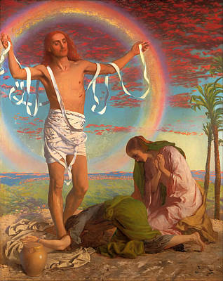 Christian Artwork Painting - Christ And The Two Marys by Mountain Dreams