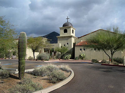 Carefree Arizona Photograph - Christ Anglican Church by Gordon Beck