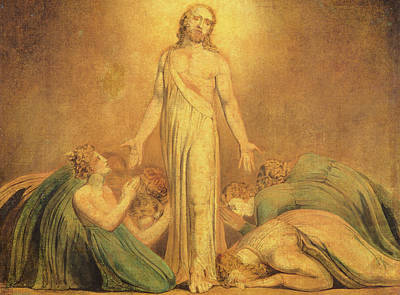 William Blake Painting - Christ Appearing To The Apostles After The Resurrection by William Blake