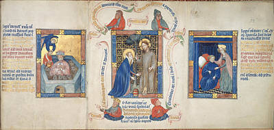 St Mary Magdalene Photograph - Christ Appears To Magdalene by British Library