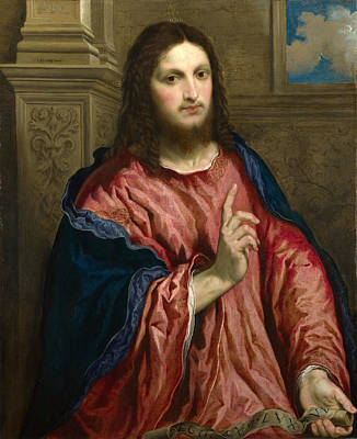 Light Of The World Painting - Christ As The Light Of The World by Paris Bordone