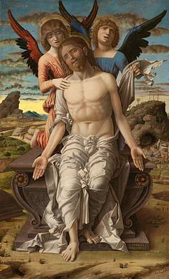 Christ The Redeemer Painting - Christ As The Suffering Redeemer by Andrea Mantegna