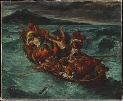 Christ Asleep During The Tempest Print by Eug�ne Delacroix