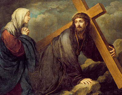 Sadness Painting - Christ At Calvary by Bartolome Esteban Murillo