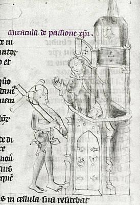 Pontius Pilate Painting - Christ Bearing Cross by Granger