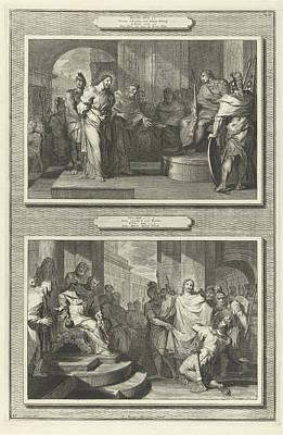 Christ Before Pilate And Herod, Gilliam Van Der Gouwen Print by Artokoloro