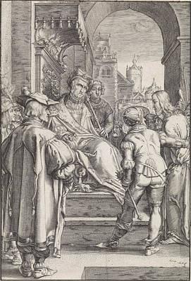 Christ Before Pilate, Ludovicus Siceram, Hendrick Goltzius Art Print
