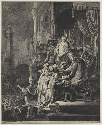 Christ Before Pilate Art Print by Rembrandt