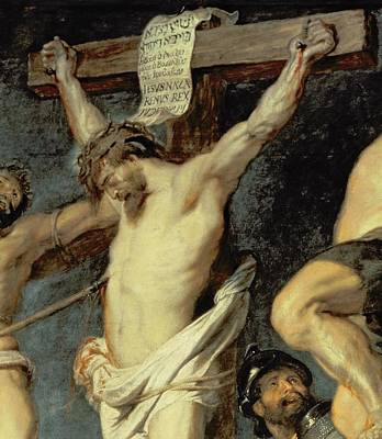 Crucifix Art Painting - Christ Between The Two Thieves, 1620 by Peter Paul Rubens