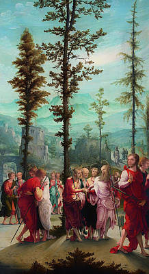 Christian Artwork Painting - Christ Bids Farewell To The Apostles by Mountain Dreams