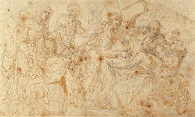 Ma. Drawing - Christ Carrying The Cross Juan De Juanes Juan Maçip by Litz Collection