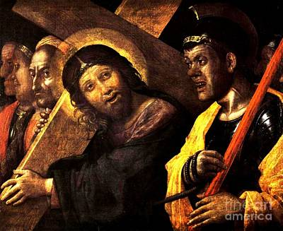 1505 Painting - Christ Carrying The Cross by Pg Reproductions