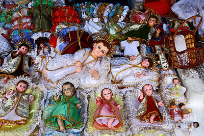Christ Child Figures For Nativity Scenes Art Print by James Brunker