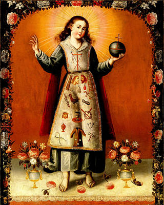 Christ Child With Passion Symbols - Remake Original