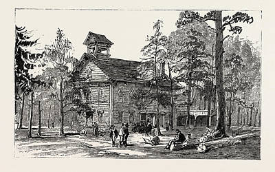 Christ Church And Public School, Thomas Hughes Settlement Art Print by American School