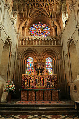 Roman Glass Photograph - Christ Church Cathedral Altar by Stephen Stookey