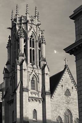 Photograph - Christ Church Cathedral And Moon by Scott Rackers