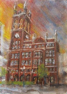 Downtown Cincinnati Painting - Christ Church Cathedral  by Josh Hertzenberg