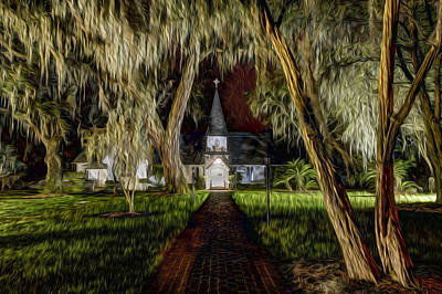 St. Simons Island Photograph - Christ Church by Debra and Dave Vanderlaan