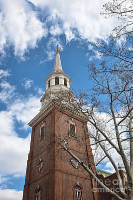 Christ Church Steeple Print by Kay Pickens