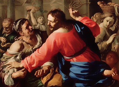 Christian Artwork Painting - Christ Cleansing The Temple by Mountain Dreams