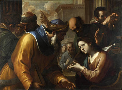 Painting - Christ Disputing With The Doctors by Gregorio Preti