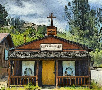 Religious Art Photograph - Christ Fellowship Wofford Heights by Barbara Snyder