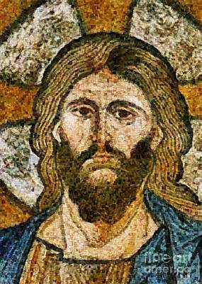 Christ From Capella Palatina Art Print