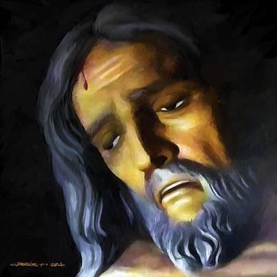 Digital Art - Jesus Christ Crucified by Gabriel T Toro