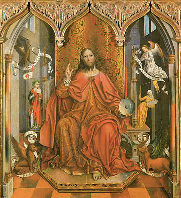 Giving Painting - Christ Giving The Blessing by Fernando Gallego