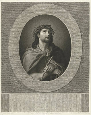 Christ Handcuffed And Wearing Crown Of Thorns Art Print