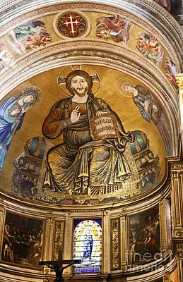 Christ In Majesty  Pisa Duomo Art Print by Liz Leyden
